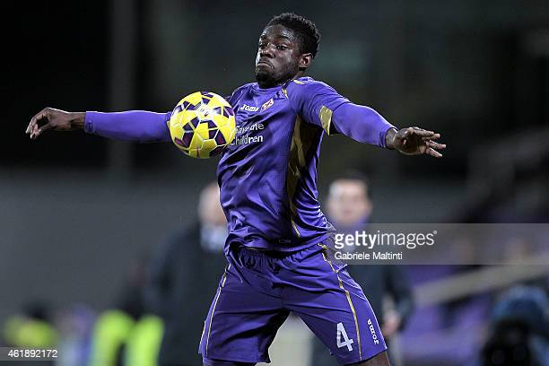 Mikah Richards of ACF Fiorentina in action during the TIM Cup match between the TIM Cup match between ACF Fiorentina and Atalanta BC at Artemio...