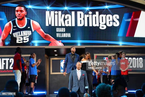 Mikal Bridges is introduced before the 2018 NBA Draft at the Barclays Center on June 21 2018 in the Brooklyn borough of New York City NOTE TO USER...