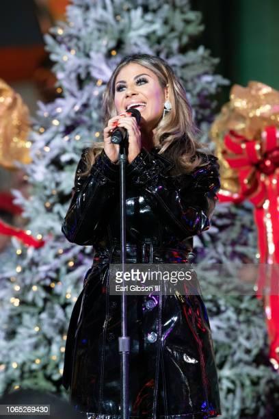 Mikalah Gordon performs at the 87th Annual Hollywood Christmas Parade on November 25 2018 in Hollywood California