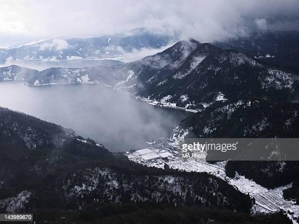 mikata goko lake - fukui prefecture stock pictures, royalty-free photos & images