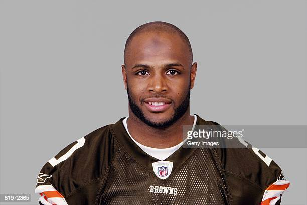 Mike Adams of the Cleveland Browns poses for his 2008 NFL headshot at photo day in Cleveland Ohio