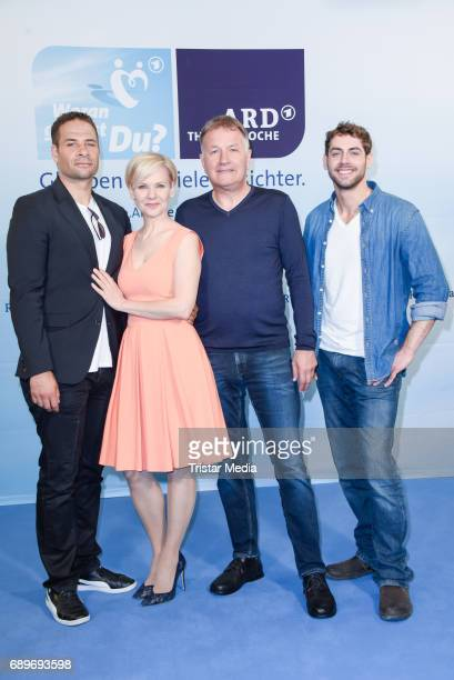 Mike Adler Andrea Kathrin Loewig Thomas Ruehmann and RoyPeter Link during the ARD Themenwoche 2017 'Woran glaubst Du' at Soho House on May 29 2017 in...