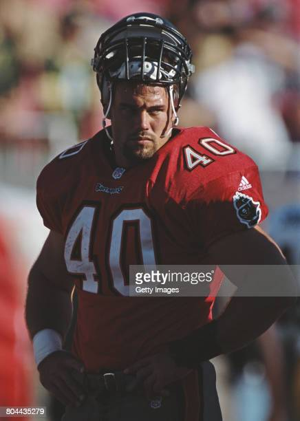 Mike Alstott Running Back for the Tampa Bay Buccaneers during the National Football Conference Central game against the Green Bay Packers on 12...