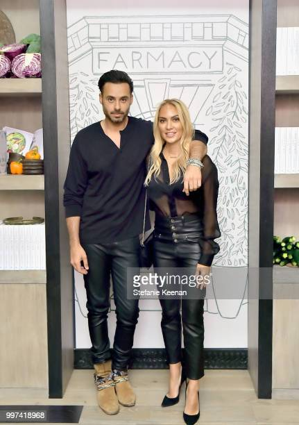Mike Amiri and Shereen Amiri attend the launch of Farmacy Kitchen Cookbook hosted by Vegan/Plantbased Author Camilla Fayed Elizabeth Saltzman and...