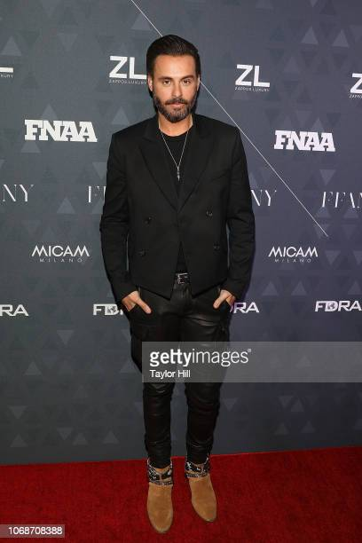 Mike Amiri attends the 2018 Footwear News Achievement Awards at IAC Headquarters on December 4 2018 in New York City