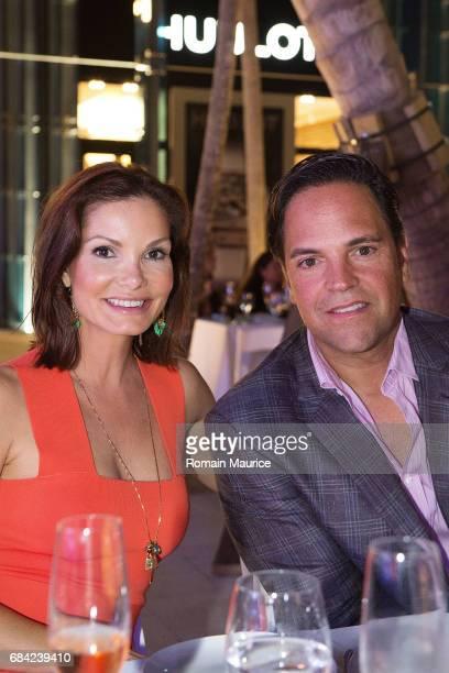Mike and Alicia Piazza attend Haute Living Miami's Annual Haute 100 Dinner Presented By Hublot And Prestige Imports at Miami Design District Palm...