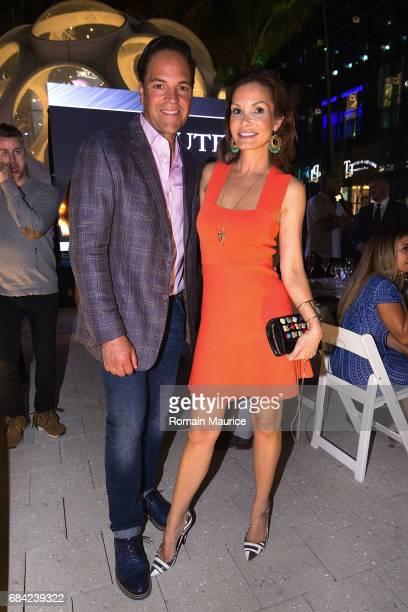 Mike and Alicia Piazza attend the Haute Living Miami's Annual Haute 100 Dinner Presented By Hublot And Prestige Imports at Miami Design District Palm...