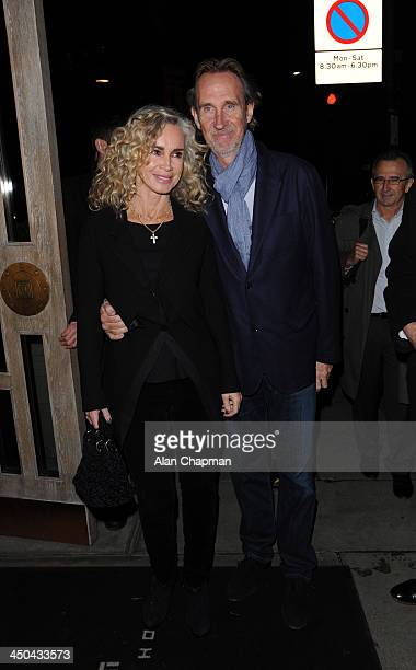 Mike and Angie Rutherford sighting at Kelly Hoppen book launch on November 18 2013 in London England