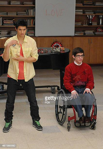 """Mike and Artie perform in the """"Silly Love Songs"""" episode of GLEE airing Tuesday, Feb. 8 on FOX."""