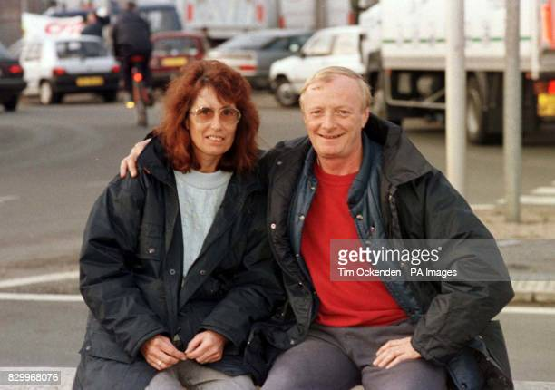 Mike and Janice Yearsley from Bury St Edmunds sit out the blockade on the N1 outside Boulogne The married couple thought they would make a holiday of...