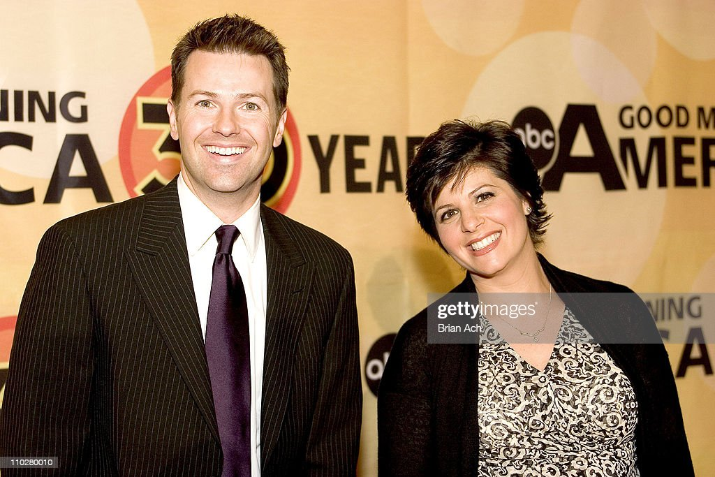 Mike and Marisa Barz during 'Good Morning America' 30th Anniversary Celebration at Lincoln Center in New York City, New York, United States.
