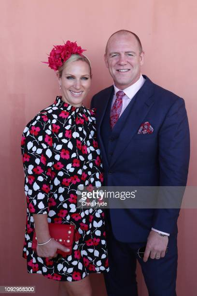 Mike and Zara Tindall attends the Magic Millions Raceday at the Gold Coast Turf Club on January 12 2019 in Gold Coast Australia
