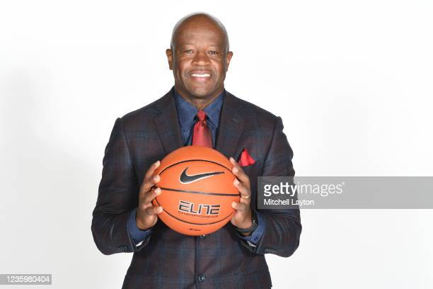 Mike Anderson of the St. Johns Red Storm poses for a photo during the Big East Media Day at Madison Square Garden on October 19, 2021 in New York...