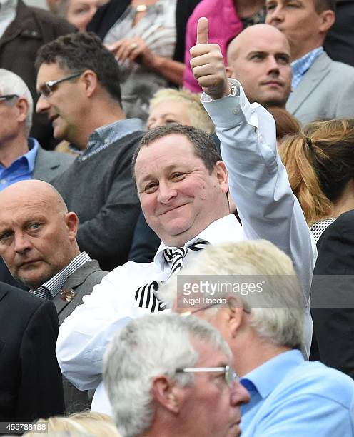 Mike Ashley owner of Newcastle United during Premier League Football match between Newcastle United and Hull City at St James' Park on September 20...