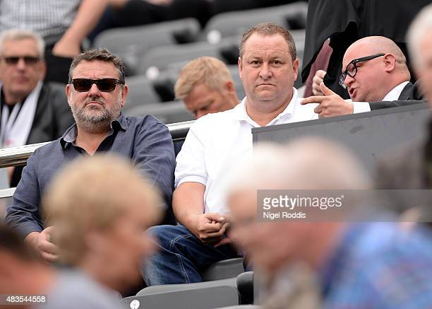 Mike Ashley owner of Newcatle United ahead of the Barclays Premier League match between Newcastle United and Southampton at