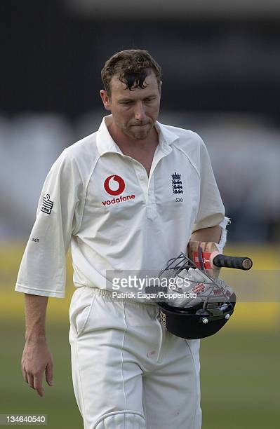 Mike Atherton after being caught by Gilchrist England v Australia 3rd Test Trent Bridge August 2001