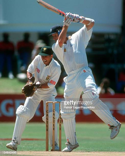 Mike Atherton and Dave Richardson South Africa v England 4th Test Port Elizabeth Dec 95
