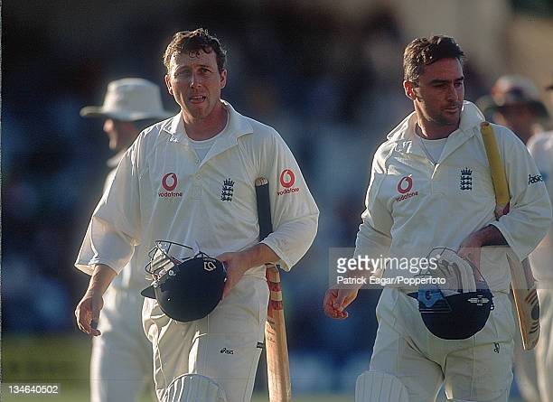 Mike Atherton and Graham Thorpe England v New Zealand 4th Test The Oval Aug 99