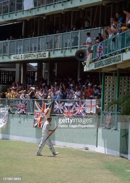 Mike Atherton of England is applauded off the field as he walks into the pavilion after making 86 during the One Day International between West...