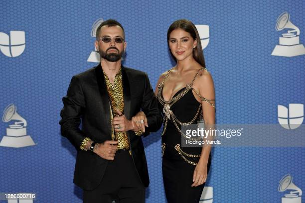 Mike Bahía and Greeicy attend The 21st Annual Latin GRAMMY Awards at American Airlines Arena on November 19 2020 in Miami Florida