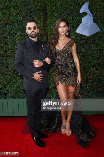Mike Bahía and Greeicy Rendón attends the 20th annual Latin GRAMMY Awards at MGM Grand Garden Arena on November 14, 2019 in Las Vegas, Nevada.