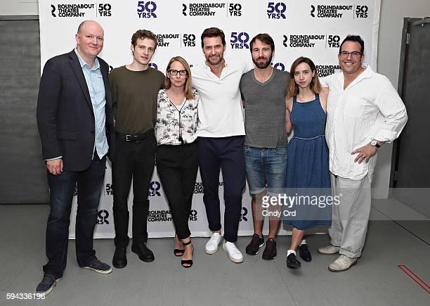 Mike Bartlett, Ben Rosenfield, Amy Ryan, Richard Armitage, Alex Hurt, Zoe Kazan and Michael Mayer attend Roundabout Theatre Company's 'Love, Love,...