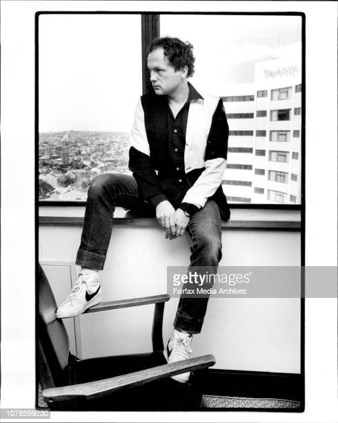 Mike Batt at CBS Records in Nth Sydney August 06 1982