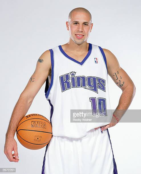Mike Bibby of the Sacramento Kings poses for a portrait during Sacramento Kings Media Day at Kings Practice Facility in Sacramento California NOTE TO...