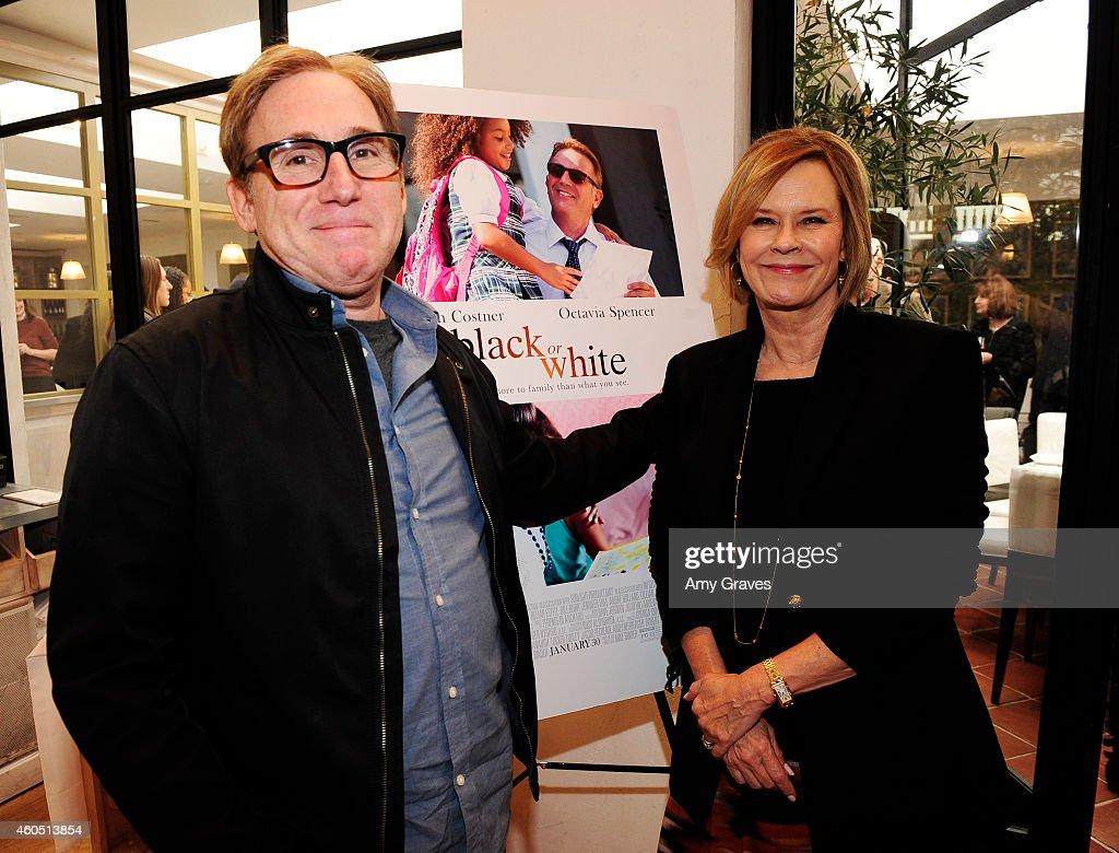 Mike Binder and JoBeth Williams attend a special luncheon for Kevin Costner and Mike Binder hosted by Colleen Camp for the film BLACK OR WHITE at Fig & Olive Melrose Place on December 15, 2014 in West Hollywood, California.