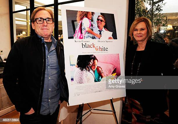 Mike Binder and JoBeth Williams attend a special luncheon for Kevin Costner and Mike Binder hosted by Colleen Camp for the film BLACK OR WHITE at Fig...