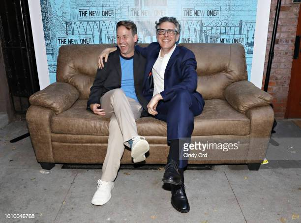 Mike Birbiglia and Ira Glass attend the opening night of Mike Birbiglia The New One at the Cherry Lane Theatre on August 2 2018 in New York City