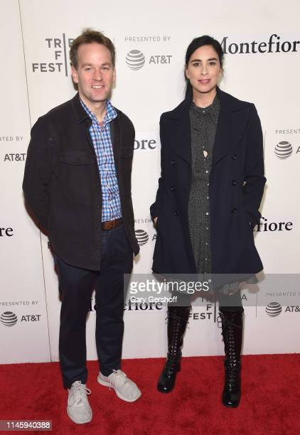 Mike Birbiglia and Sarah Silverman attend the 'Tribeca Talks Storytellers – Sarah Silverman with Mike Birbiglia' at BMCC Tribeca PAC on April 29 2019...