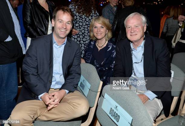 Mike Birbiglia Kathleen Matthews and Chris Matthews attend the Screenwriters Tribute at the 2018 Nantucket Film Festival Day 4 on June 23 2018 in...