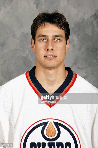 Mike Bishai of the Edmonton Oilers poses for a portrait on September 15 2003 at Skyreach Centre in Edmonton Alberta Canada