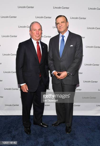 Mike Bloomberg and Lincoln Center Distinguished Service Award recipient Robert K Steel attends Lincoln Center Fall Gala at Alice Tully Hall on...