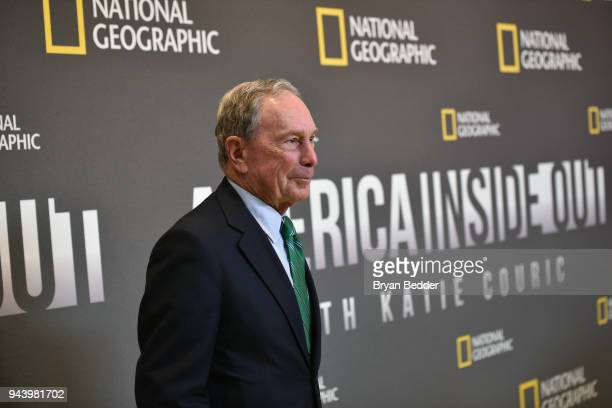 Mike Bloomberg Founder Bloomberg LP Bloomberg Philanthropies and threeterm Mayor of NYC attends National Geographic's premiere screening of AMERICA...