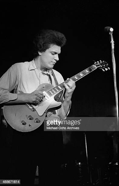 Mike Bloomfield of the Butterfield Blues Band performs circa 1966 in New York City New York