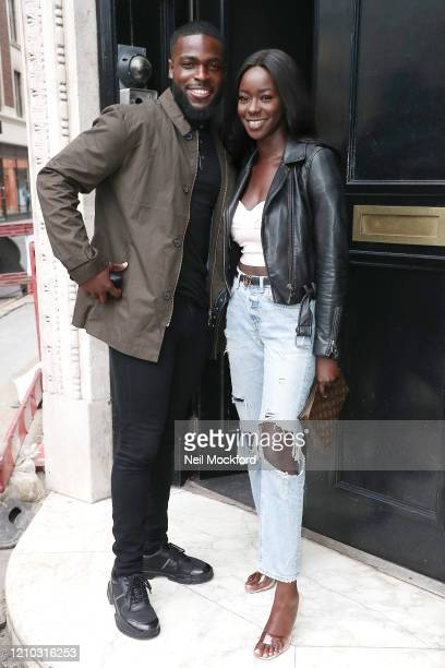 Mike Boateng and Priscilla Anyabu from Love Island 2020 seen arriving at Heat Radio Studios on March 04 2020 in London England