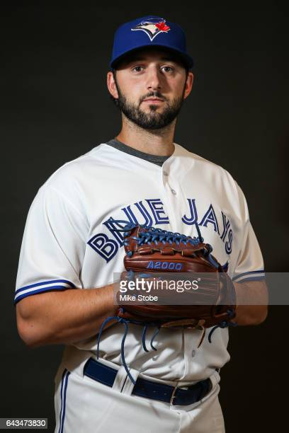 Mike Bolsinger of the Toronto Blue Jays poses for a portait during a MLB photo day at Florida Auto Exchange Stadium on February 21 2017 in Dunedin...