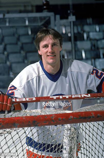 Mike Bossy of the New York Islanders poses for a portrait in January of 1985 Mike Bossy played for the Islanders from 1977 1987