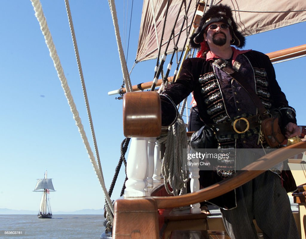 Mike Bradley Of Ojai Dressed As A Pirate For A Cruise On The - Pirate ship cruise hawaii