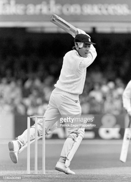 Mike Brearley batting for England during the 3rd Test match between England and Australia at Trent Bridge, Nottingham, 29th July 1977. England won...