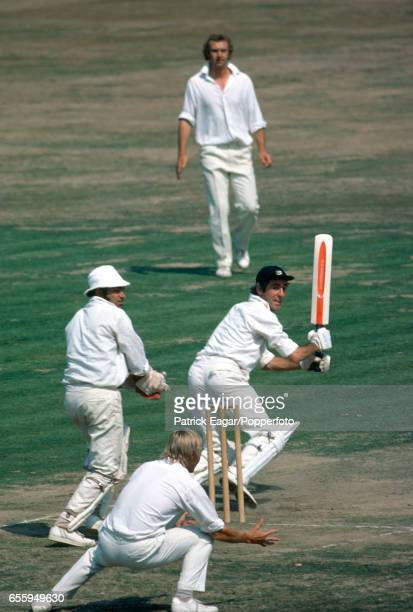 Mike Brearley of Middlesex batting during the County Championship match between Middlesex and Lancashire at Lord's Cricket Ground London 25th August...