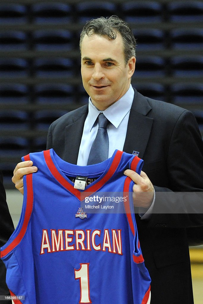 Mike Brennan is announced as the new mens basketball coach at American University on April 30, 2013 at Bender Arena in Washington, DC.