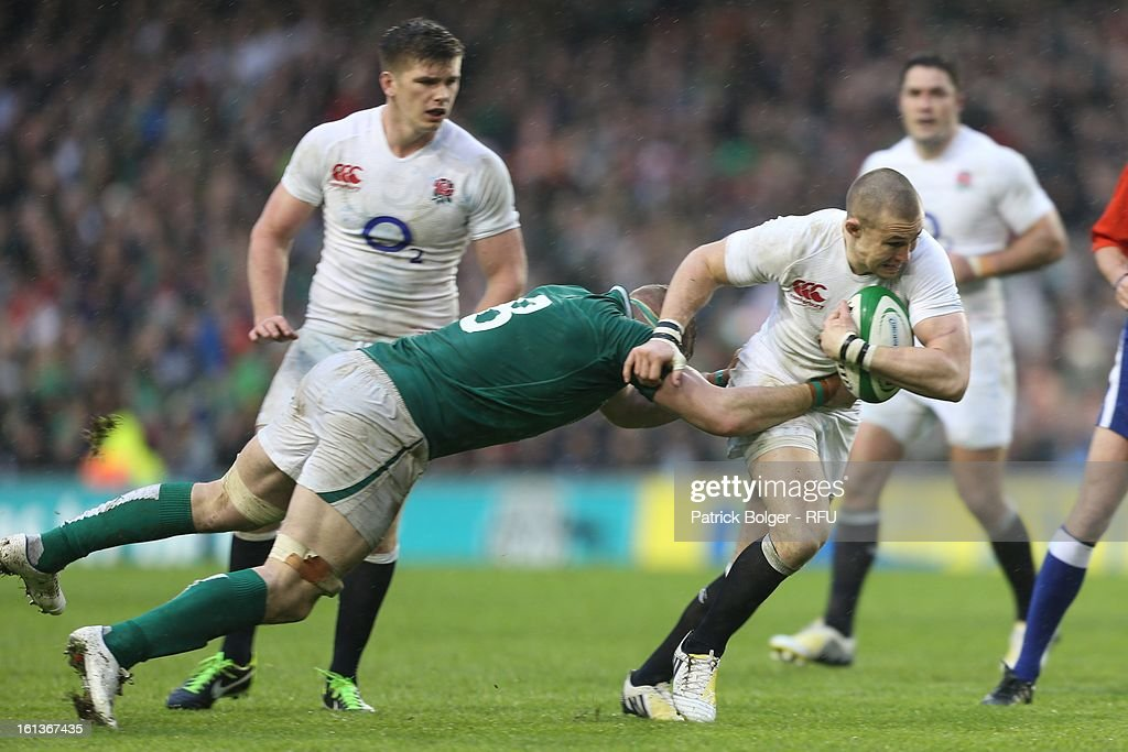 Mike Brown in action during the RBS Six Nations match between Ireland and England at Aviva Stadium on February 10, 2013 in Dublin, Ireland.