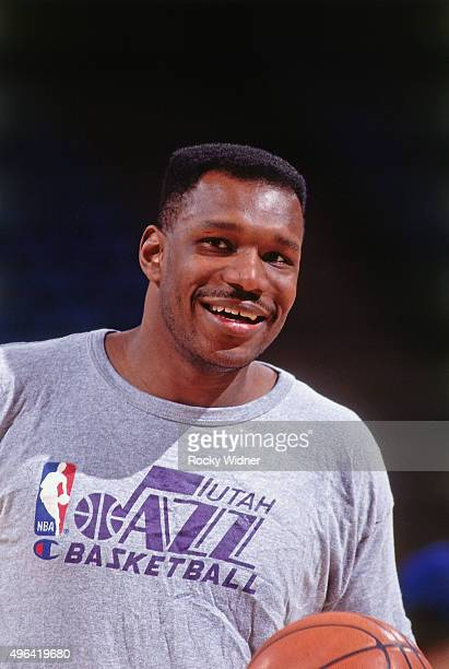 Mike Brown of the Utah Jazz looks on against the Sacramento Kings circa 1992 at Arco Arena in Sacramento California NOTE TO USER User expressly...