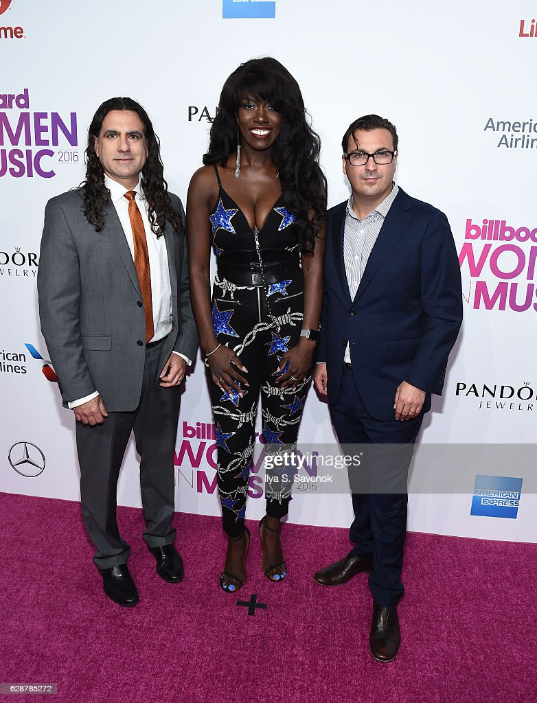 Mike Bruno, Bozoma Saint John and John Amato attend Billboard Women In Music 2016 Airing December 12th On Lifetime at Pier 36 on December 9, 2016 in New York City.