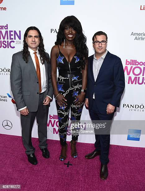 Mike Bruno Bozoma Saint John and John Amato attend Billboard Women In Music 2016 Airing December 12th On Lifetime at Pier 36 on December 9 2016 in...
