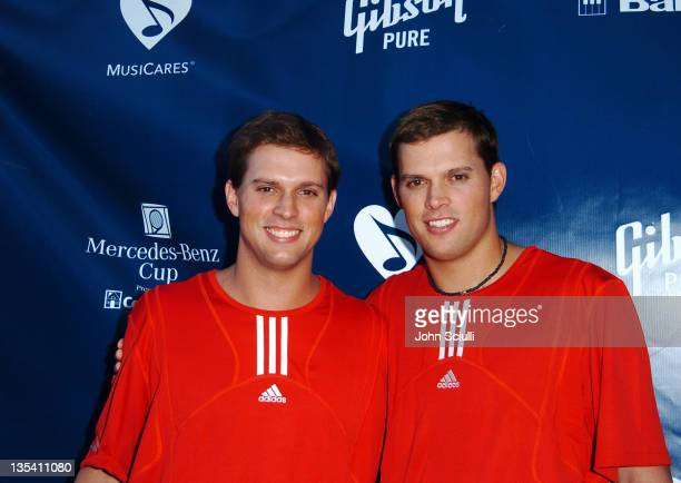 Mike Bryan and Bob Bryan during Gibson/Baldwin Presents 'Night at the Net' at the 78th Annual MercedesBenz Cup Benefiting MUSICARES Foundation...