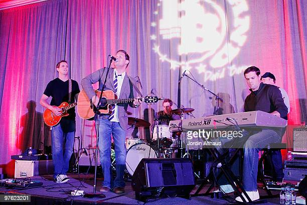 Mike Bryan David Barron and Bob Bryan of The Bryan Bros Band performs at the 6th Annual KSwiss Desert Smash Day 1 at La Quinta Resort and Club on...
